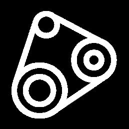 Transmission - tandremme, fladremme, kæder, tandremshjul og komponenter til transmission.
