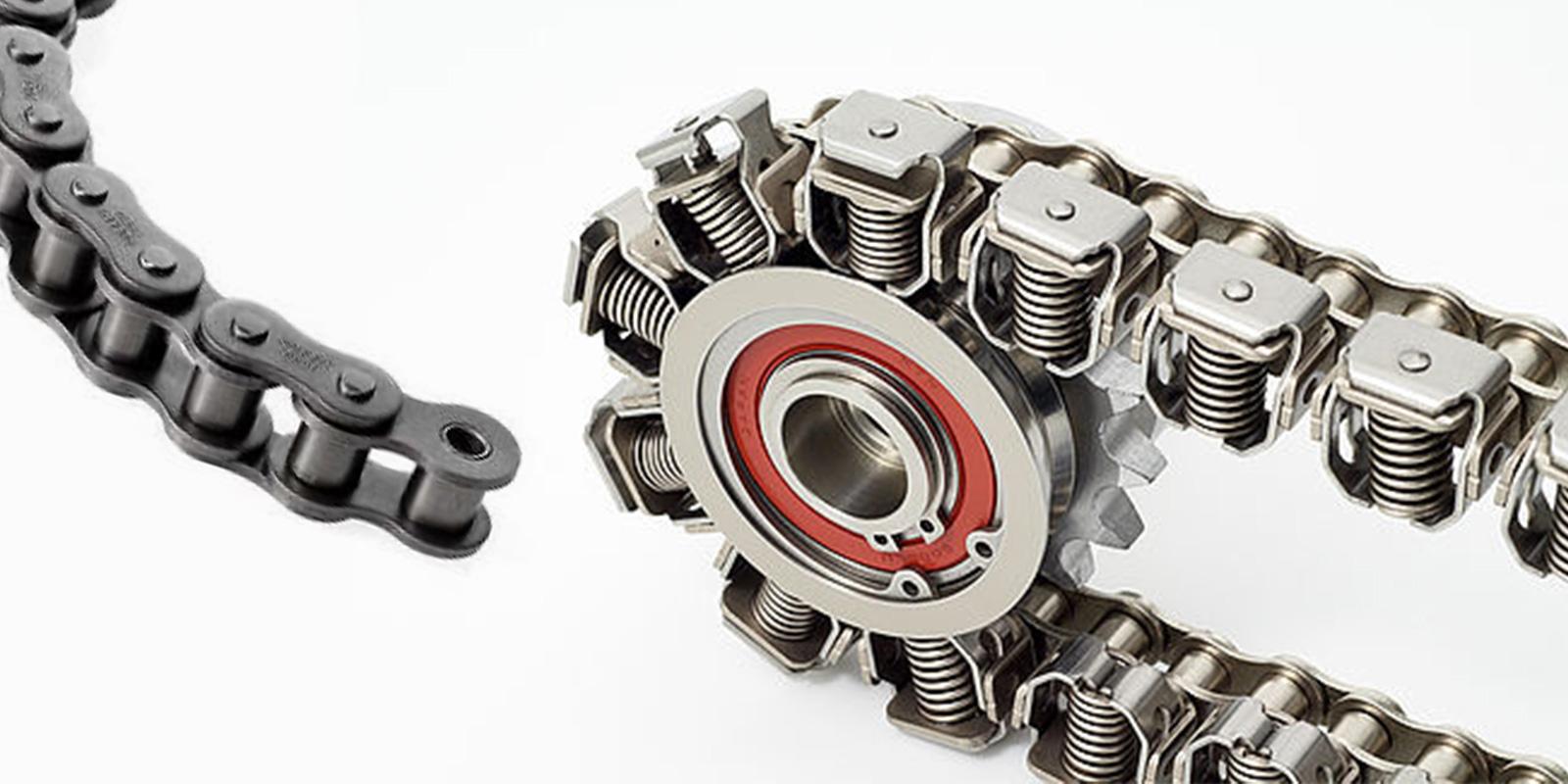 Kæder - Selvsmørende rustfri industrikæder og kædehjul.