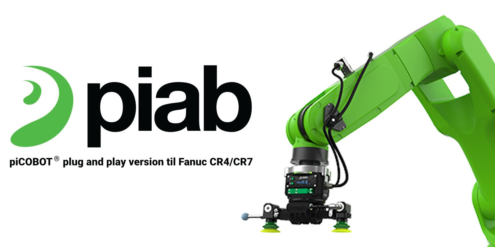 piCOBOT vakuum robotgriber nu som plug and play version til Fanuc robotter